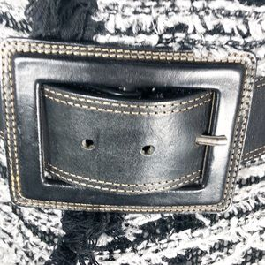 Banana Republic Black Leather Statement Belt   B18